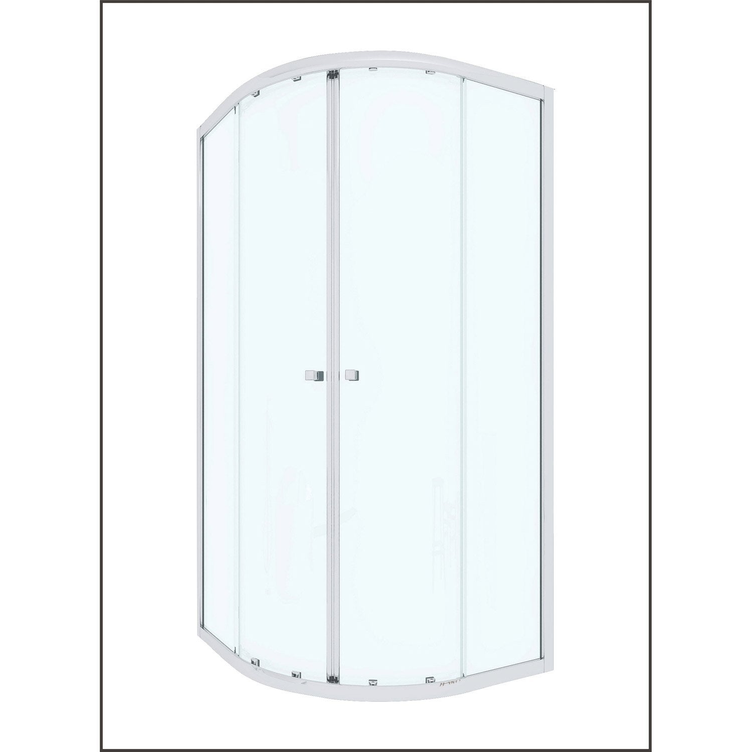 porte de douche coulissante angle 1 4 de cercle 90 x 90 cm transparent dado leroy merlin. Black Bedroom Furniture Sets. Home Design Ideas