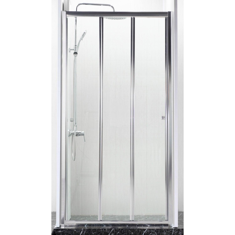 porte de douche coulissante 98 cm transparent dado leroy merlin. Black Bedroom Furniture Sets. Home Design Ideas