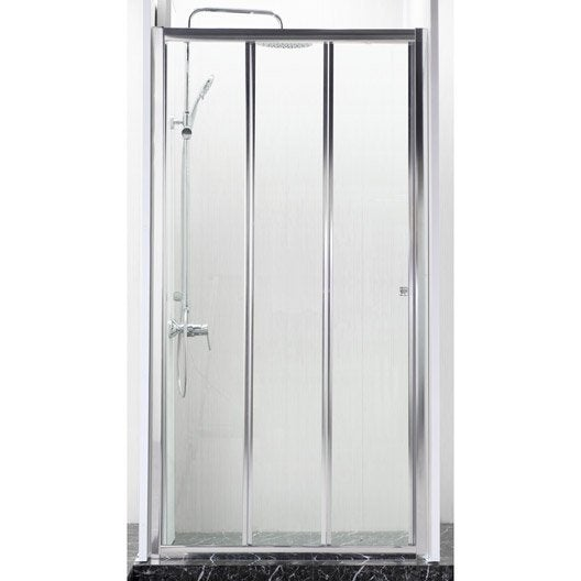 porte de douche coulissante 98 cm transparent dado. Black Bedroom Furniture Sets. Home Design Ideas