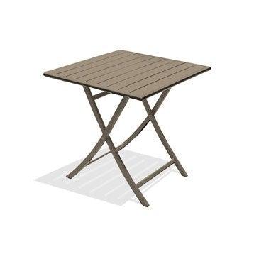 Table de jardin Marius carrée beige 2 personnes