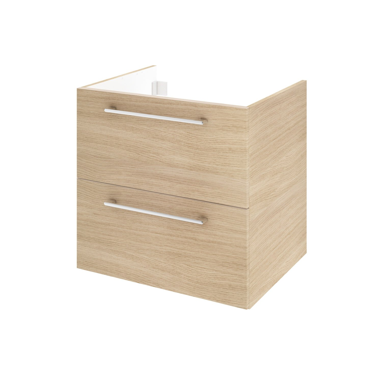 meuble sous vasque l60 x h58 x p46 cm dcor imitation chne clair remix