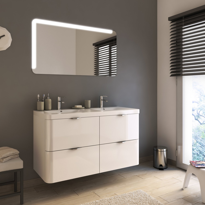 meuble de salle de bains sobre et contemporain leroy merlin. Black Bedroom Furniture Sets. Home Design Ideas