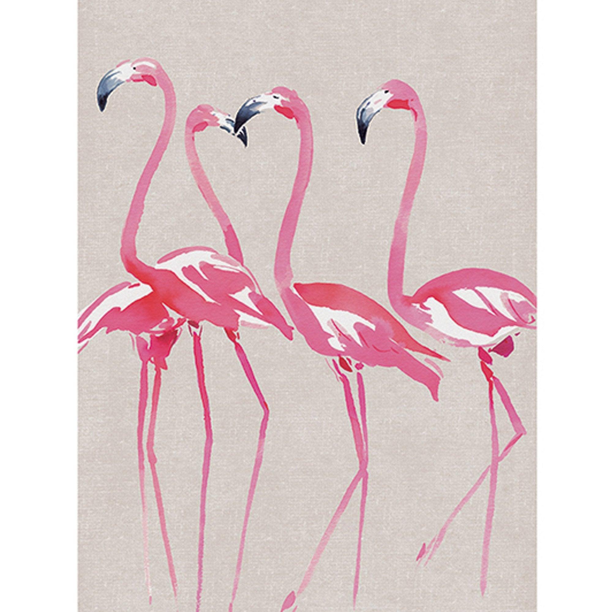 Affiche Elegant flamingos l.60 x H.80 cm