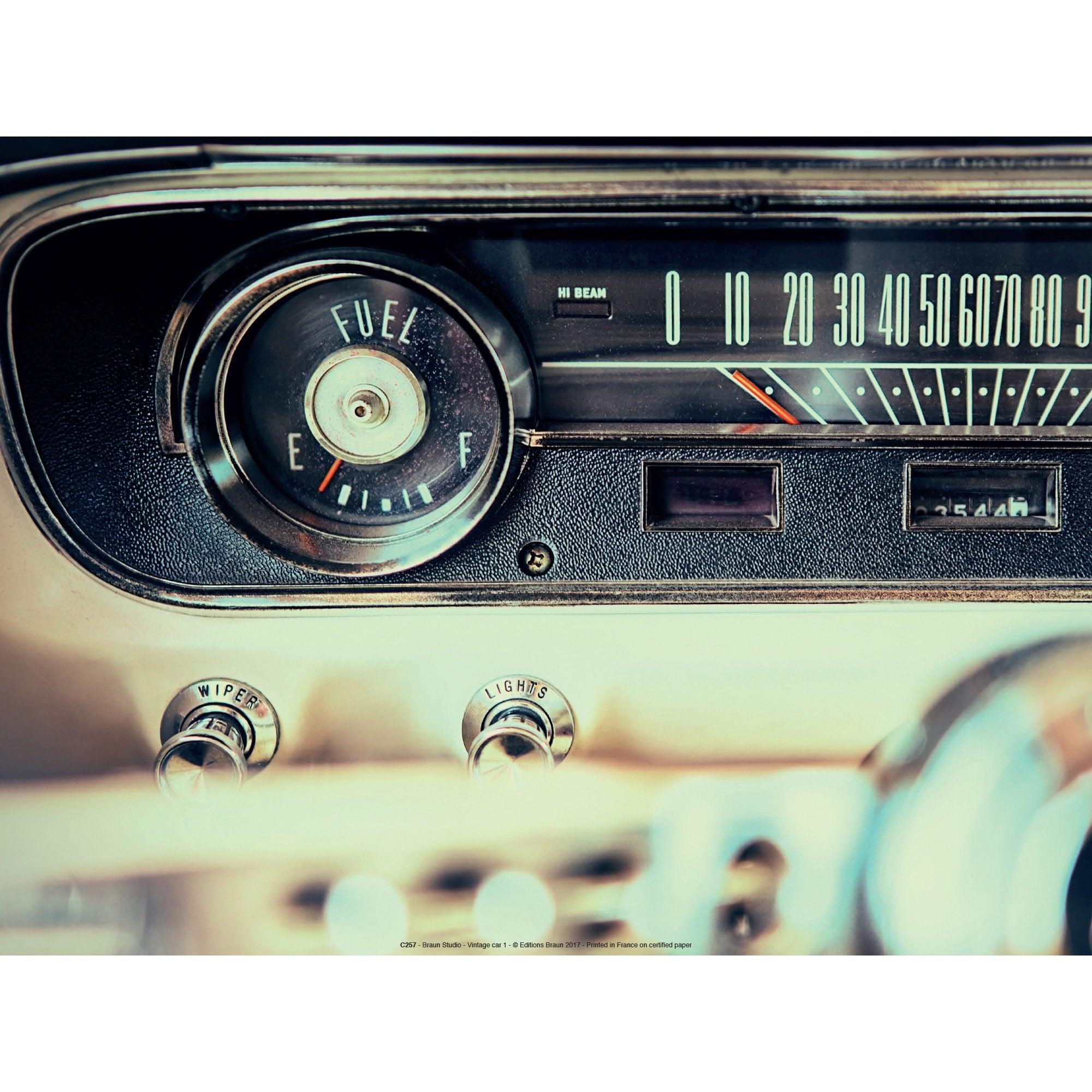 Affiche Car radio l.40 x H.30 cm