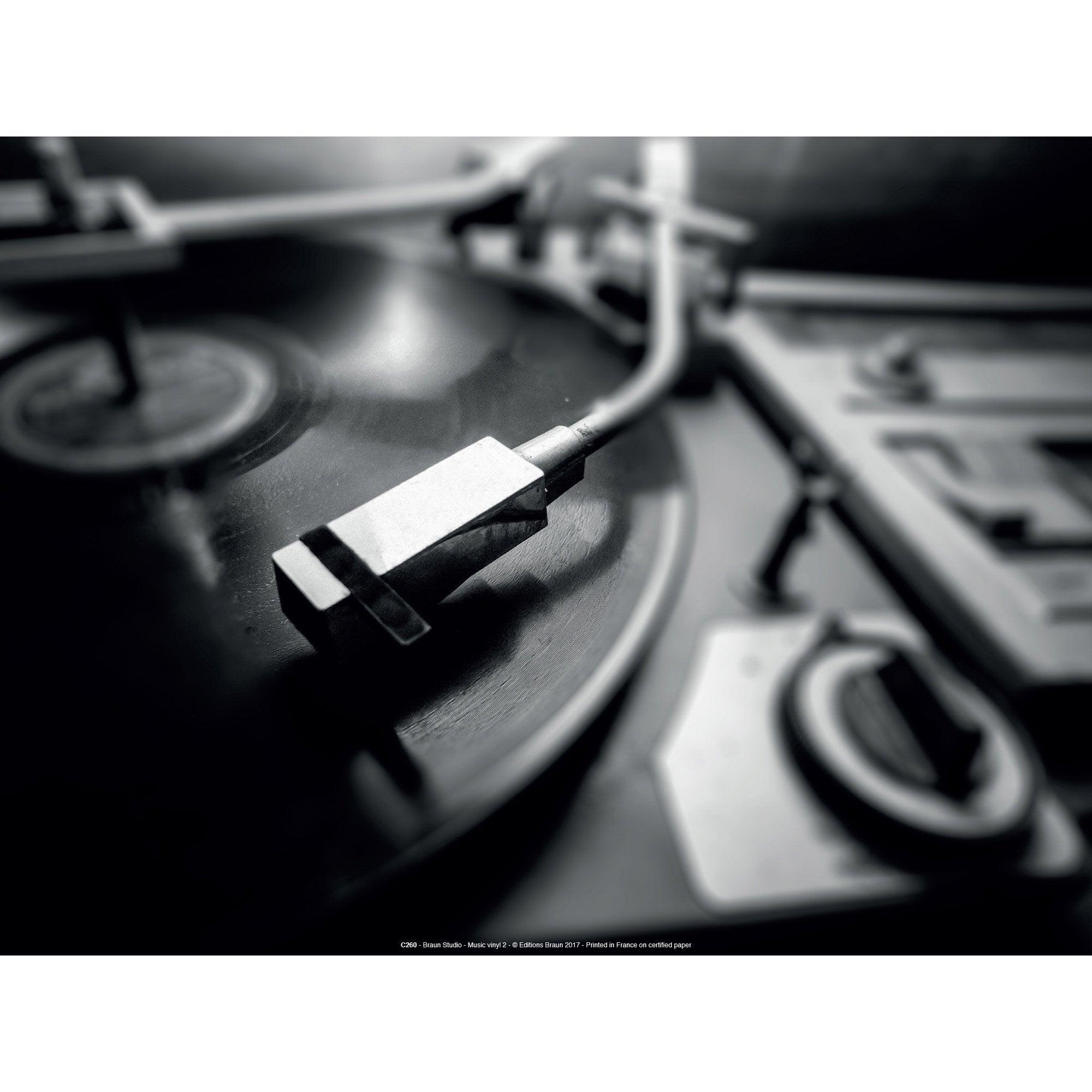 Affiche Music vinyl l.41 x H.31 cm