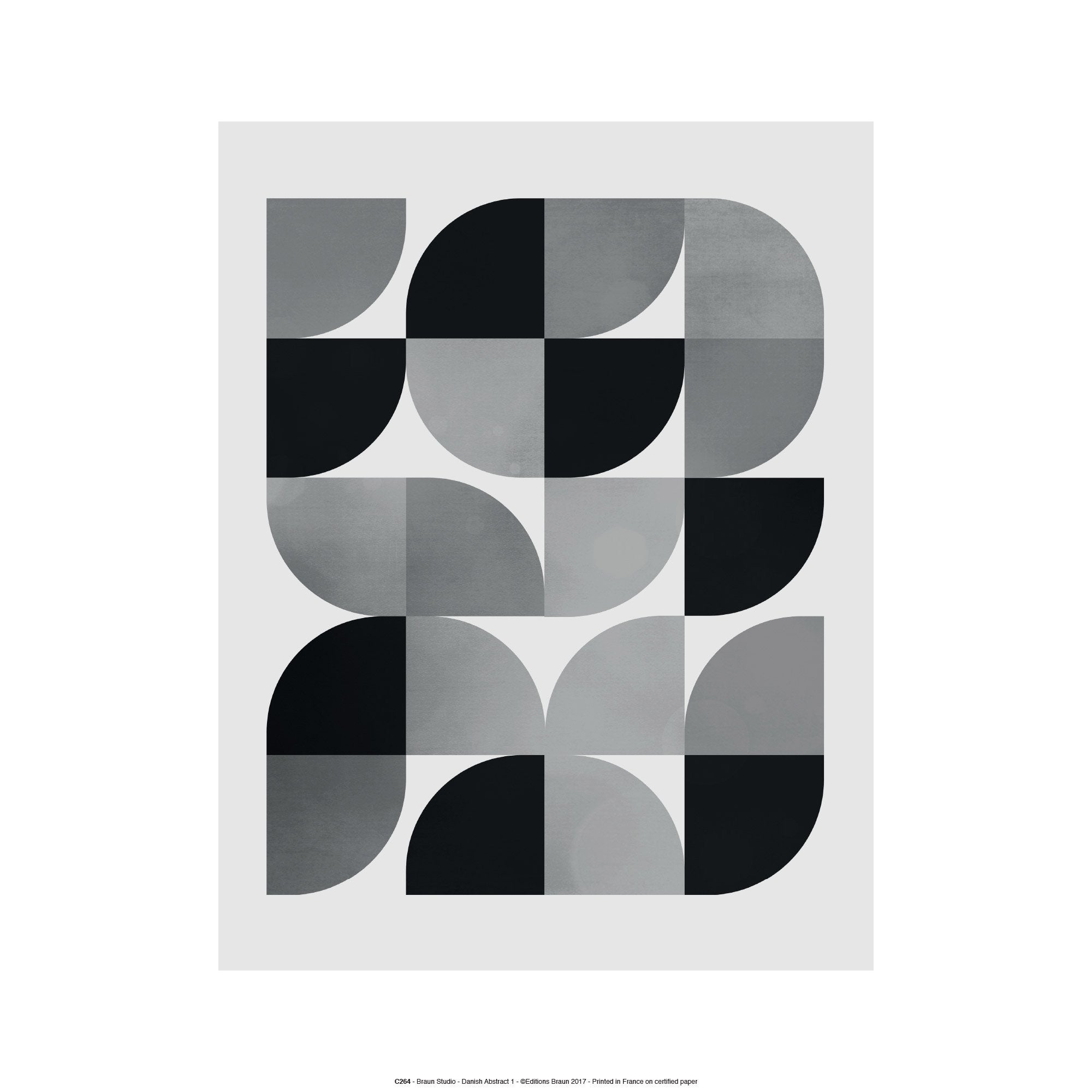 Affiche Danish abstract l.41 x H.31 cm