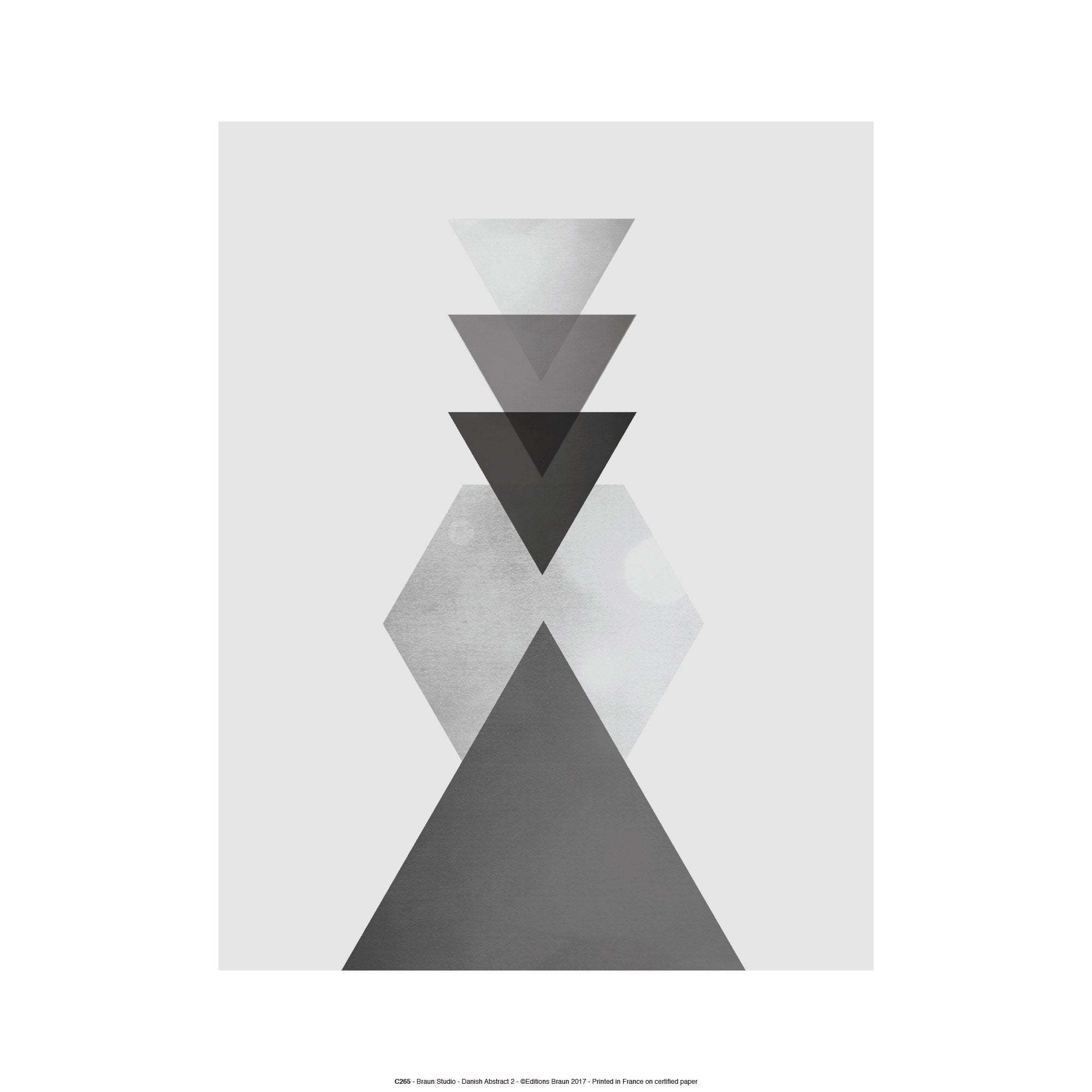 Affiche Danish Abstract triangles l.30 x H.40 cm