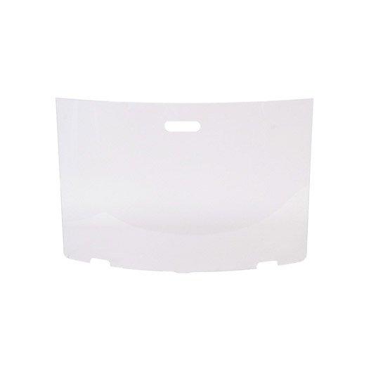 Pare feu en verre tremp blanc lemarquier pfz09015 1 volet x cm - Verre trempe leroy merlin ...