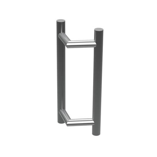 poign e de porte coulissante en inox pour tous types de portes leroy merlin. Black Bedroom Furniture Sets. Home Design Ideas