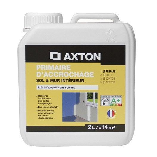 primaire d'accrochage axton, 2 l | leroy merlin - Primaire D Accrochage Peinture Plafond