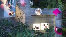 Terrasse bohème en L