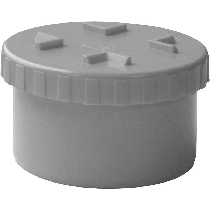 Tampon De Visite Simple Pvc Diam100 Mm First Plast