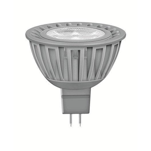 ampoule r flecteur led 6 5w 350lm quiv 35w gu5 3 compatible variateur 36 leroy merlin. Black Bedroom Furniture Sets. Home Design Ideas