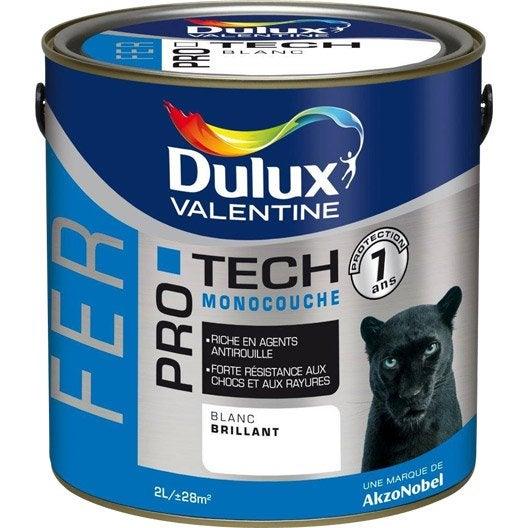 Peinture fer ext rieur protech dulux valentine bleu marine 2 l leroy merlin for Peinture bleu marine mat
