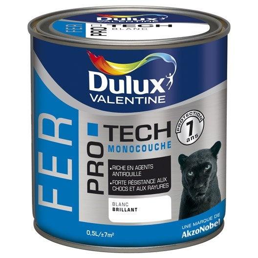 Peinture fer ext rieur protech dulux valentine bleu marine 0 5 l leroy merlin for Peinture bleu marine mat