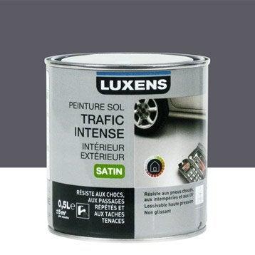 Peinture sol extérieur / intérieur Trafic intense LUXENS, gris galet n°1, 0.5L