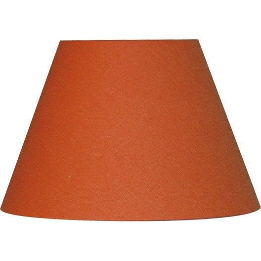 abat jour sweet 25 cm coton orange leroy merlin. Black Bedroom Furniture Sets. Home Design Ideas