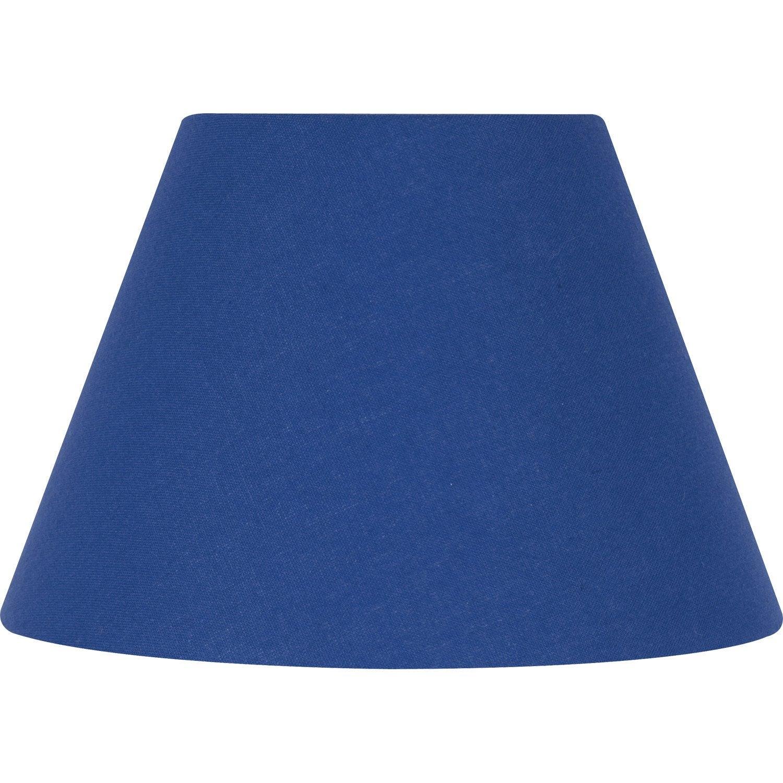 abat jour bleu Abat-jour Sweet, 22 cm, coton, bleu roy