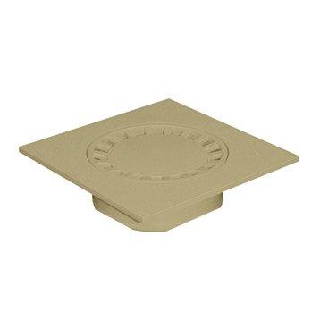 Siphon de cour en pvc FIRST PLAST sable l.19.6 x H.19.6 cm