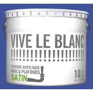 Peinture mur et plafond blanc peinture int rieure for Difference peinture mat et satin