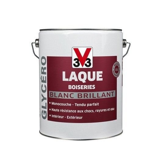 Peinture murs et plafonds v33 brillant 5l leroy merlin for Machine carrelage monocouche