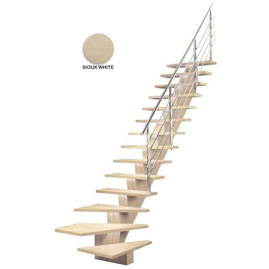 Escalier Quart Tournant Bas Droit Kalea M Dium Mdf Leroy Merlin