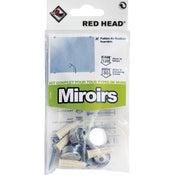 kit chevilles à expansion miroir RED HEAD, Diam.6 x L.25 mm