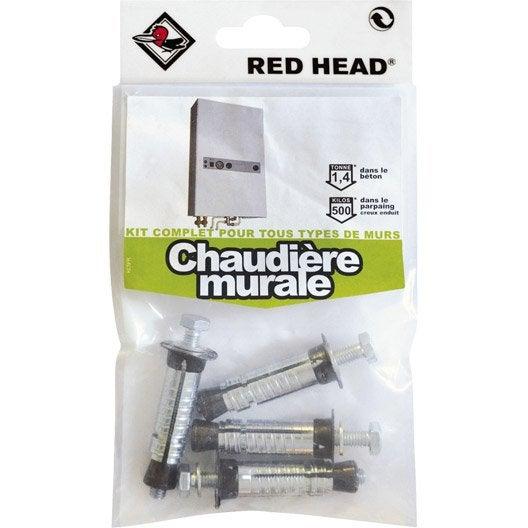 kit chevilles expansion chaudi re murale red head x mm leroy merlin. Black Bedroom Furniture Sets. Home Design Ideas