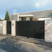 Portail aluminium, l.300 x H.160 cm