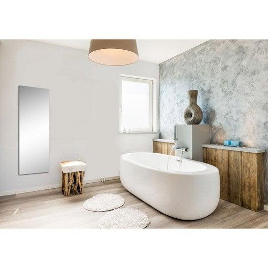 radiateur lectrique rayonnement decowatt miroir 500 w leroy merlin. Black Bedroom Furniture Sets. Home Design Ideas