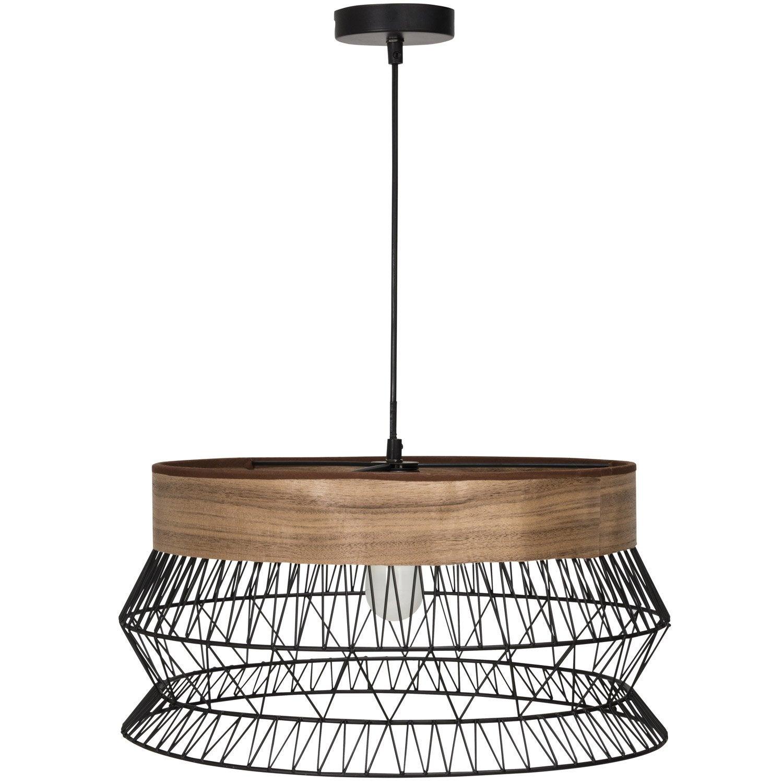 suspension e27 thnique manam m tal noir 1 x 60 w inspire. Black Bedroom Furniture Sets. Home Design Ideas
