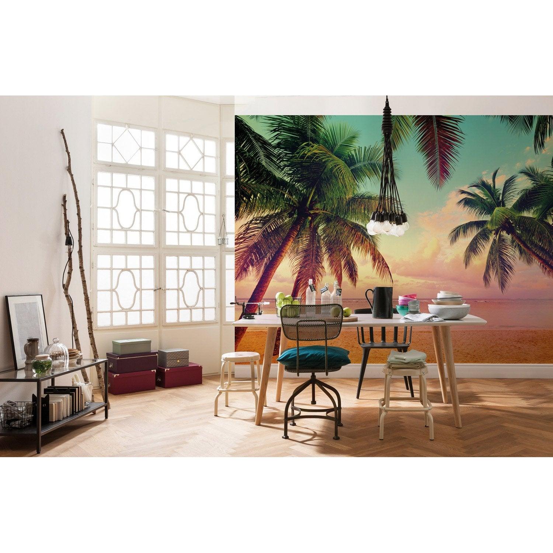 photo murale miami rose vert orange papier imagine edition 2 leroy merlin. Black Bedroom Furniture Sets. Home Design Ideas