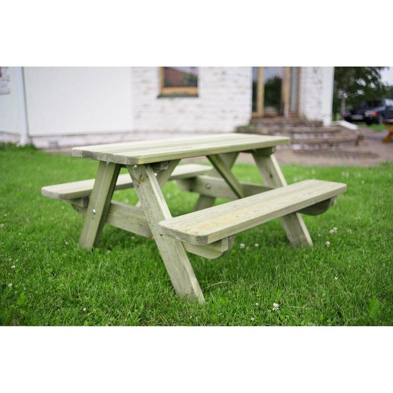 table de jardin pour enfants foresti re rectangulaire vert 4 personnes leroy merlin. Black Bedroom Furniture Sets. Home Design Ideas