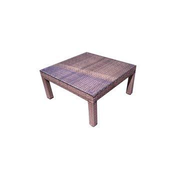 Table de jardin basse NATERIAL Daveport carrée gris 2 personnes