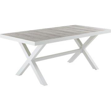Table de jardin Céramica rectangulaire gris 6 personnes