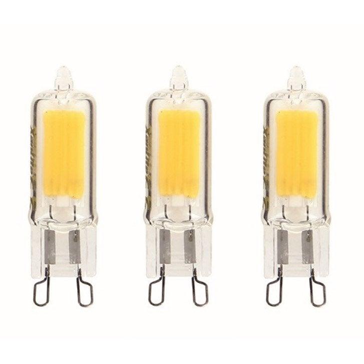 Ampoules LED G9 2W = 200Lm (équiv 20W) 4000K 250° XANLITE - Lot de 3 ...