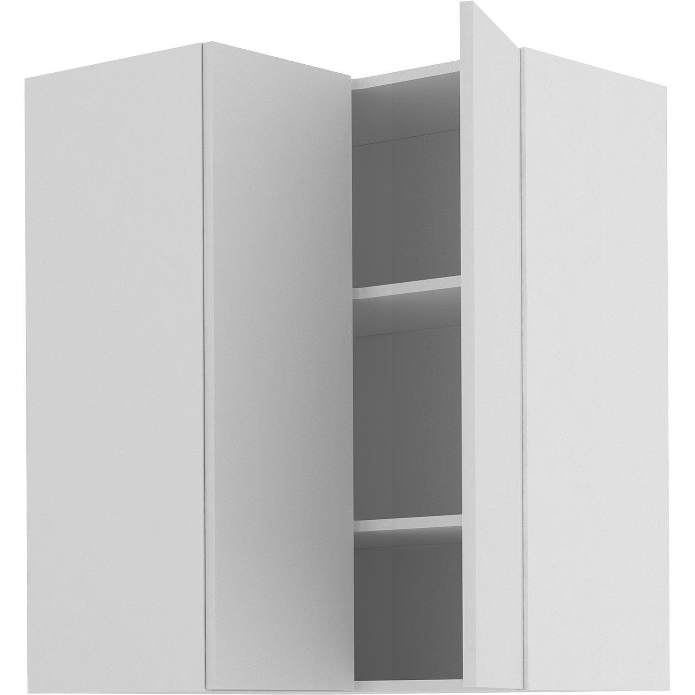 Meuble Haut D Angle De Cuisine Sofia Blanc 2 Portes H 103 L 67 Cm
