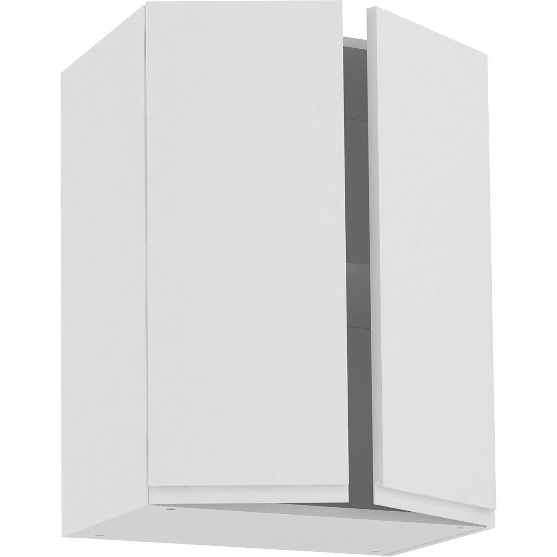 Meuble haut de cuisine Tokyo blanc, 15 portes H15xl15