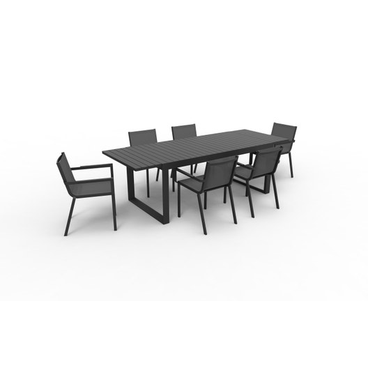 f1e07a87a48 Salon de jardin Odissea orion aluminium gris anthracite