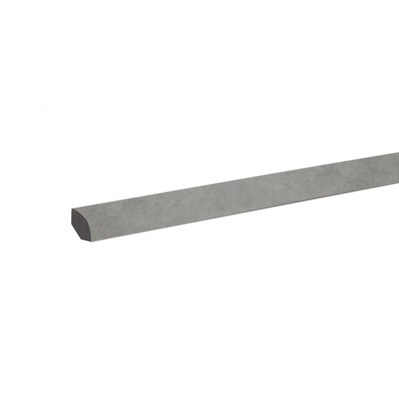 Poser Un Quart De Rond Carrelage quart-de-rond, pierre grise pvc décor no 35, h.240 x l.2.4 m x ep.14 mm