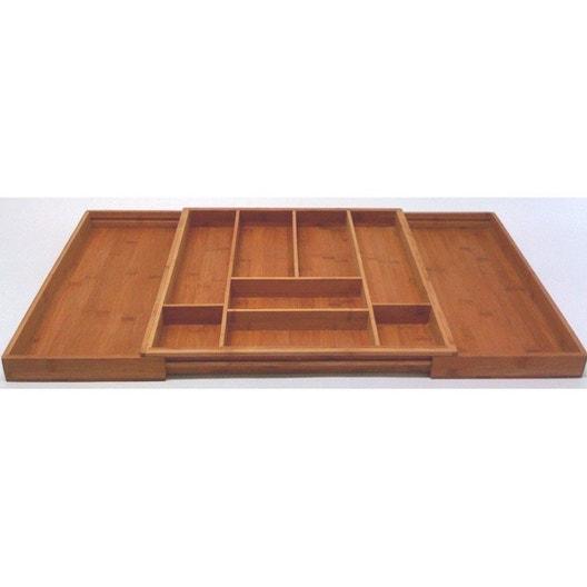 range couverts bambou beige x cm leroy merlin. Black Bedroom Furniture Sets. Home Design Ideas