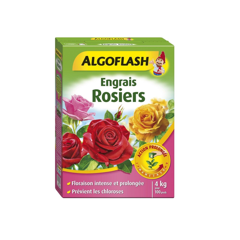 Engrais rosiers algoflash 4kg 25 m leroy merlin for Engrais 3 fois 15