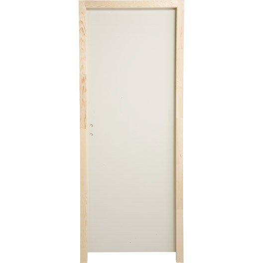 bloc porte latitude pleine poussant gauche 204 x 73 cm leroy merlin. Black Bedroom Furniture Sets. Home Design Ideas