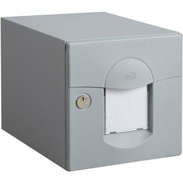 Boîte aux lettres RENZ Soléa normalisée gris clair en acier