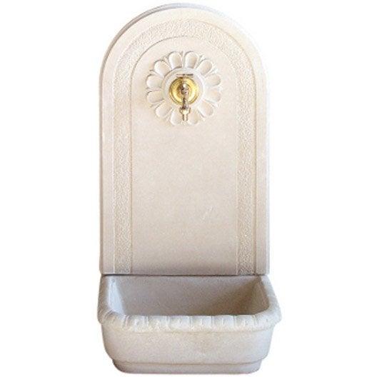 Fontaine grand mod le en pierre reconstitu e hairie for Fontaine pour jardin leroy merlin