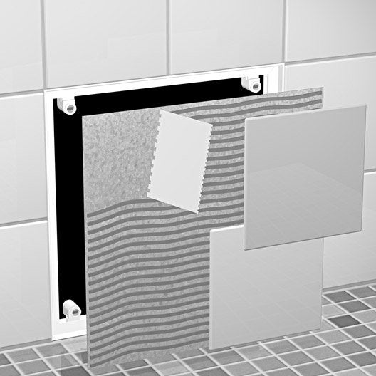 trappe de visite carreler semin 40 9 x 40 9 cm leroy. Black Bedroom Furniture Sets. Home Design Ideas