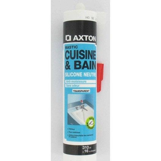 mastic antimoisissure axton transparent 310 ml - Joint Salle De Bain Leroy Merlin
