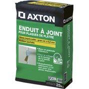 Enduit à joint pour plaque de plâtre AXTON, 25 kg