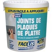 Enduit pour joint de plaque de plâtre FACILIS, 18 kg