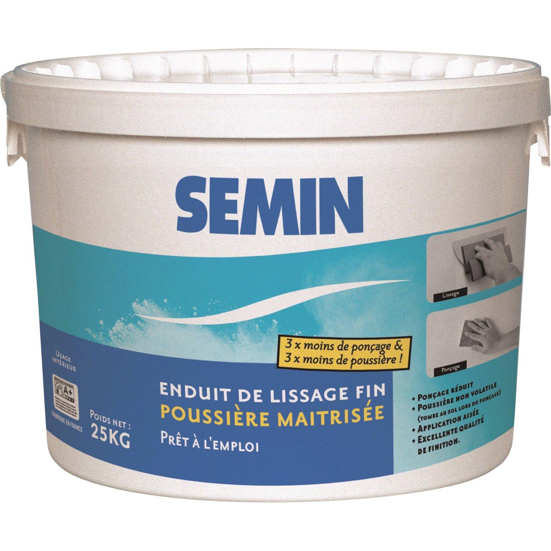 Enduit De Lissage Interieur à enduit de lissage poussière maîtrisée semin, 25 kg | leroy merlin
